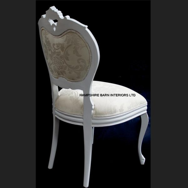 Chateau French Style Boudoir Ornate White Chair ..dining, desk, dressing table or occasional5