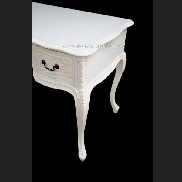 Chateau French Style Ornate White Desk ..can be used also as a Console or Dressing Table 3 Drawer5