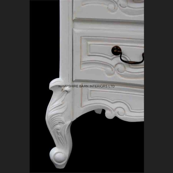 Chateau French Style White Painted Chest of 3 drawers5