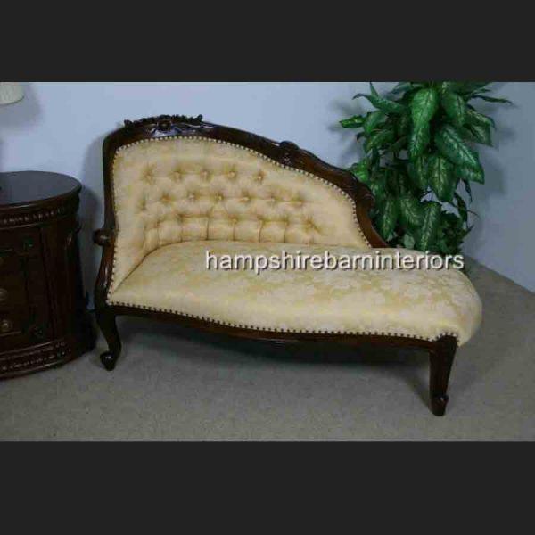 Chatsworth Love Seat in Mahogany and Gold Ashley Fabric1
