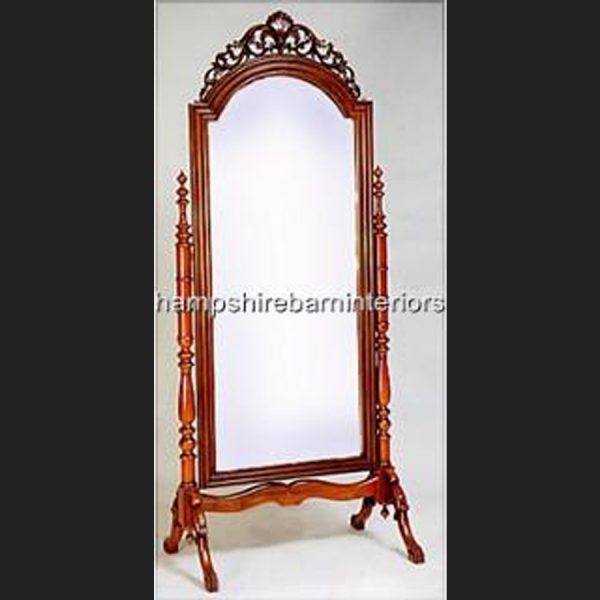 Cheval Standing Mirror in Mahogany