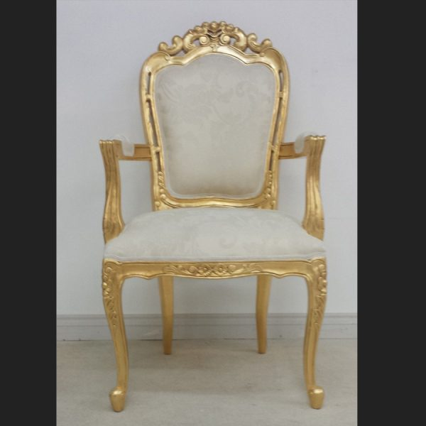 Franciscan Chair in Gilded Gold and Ivory Cream (dining or occasional)1