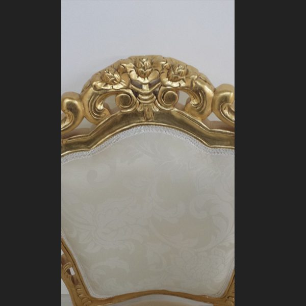 Franciscan Chair in Gilded Gold and Ivory Cream (dining or occasional)3