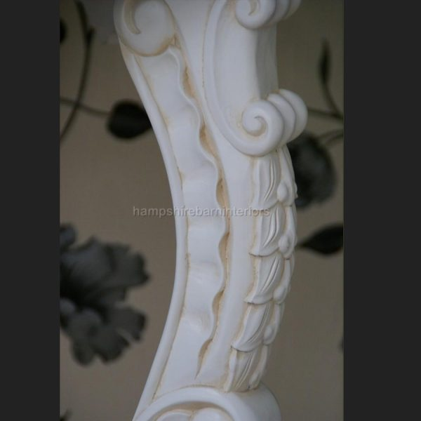 Gainsborough Console Table in Antique White with White Marble4