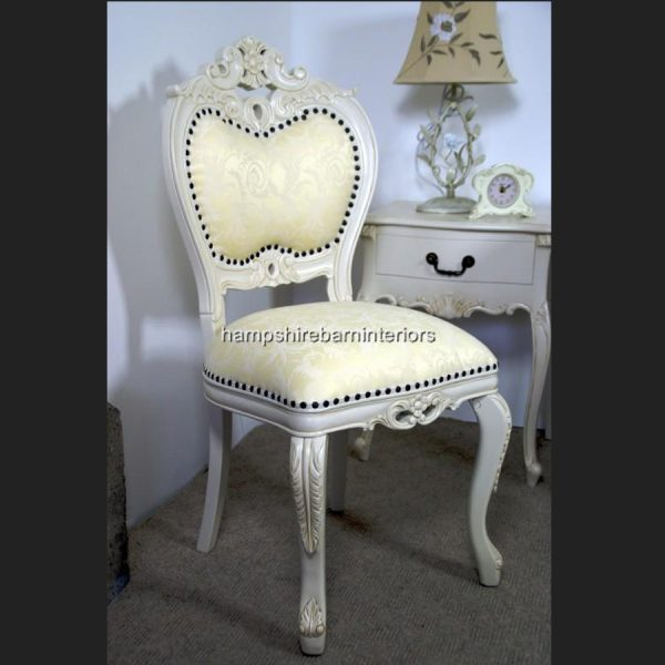 Heart Chair In Antique White1