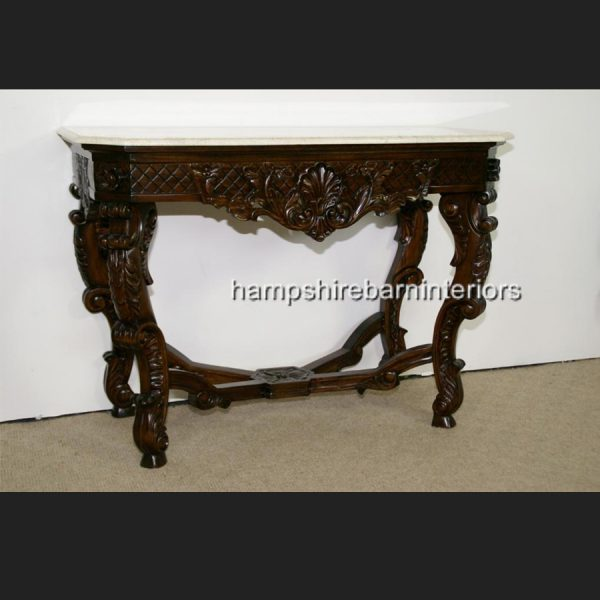 KENSINGTON MARBLE TOPPED CONSOLE TABLE1