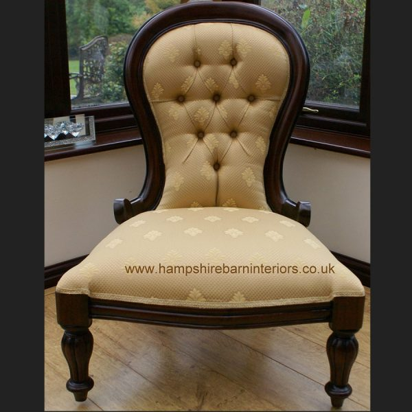 Ladies Victorian Chair in Mahogany and Regal Gold1