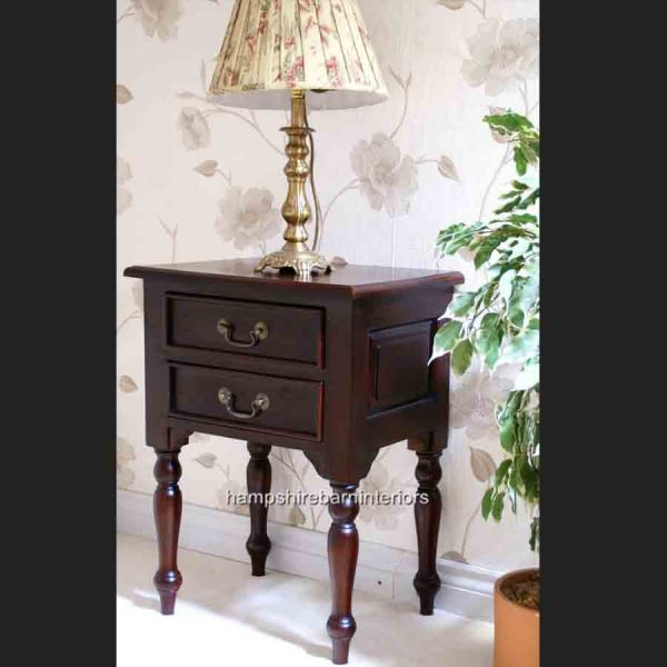 MAHOGANY SIDE LAMP TABLE3