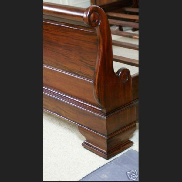 Mahogany French Sleigh Bed3