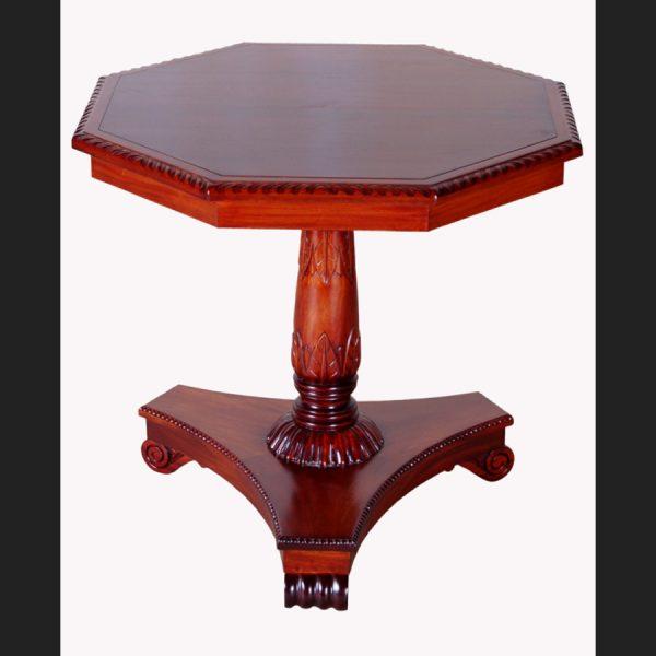 Octagonal Lamp Table