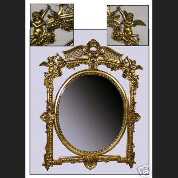 Ornate Gold Cherub Mirror1