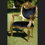 Ornate Harp arm chair