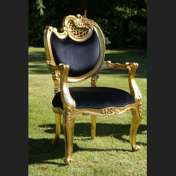 Ornate Harp arm chair2
