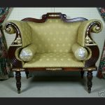 Regency Bergere Style Armchair in Mahogany and Gold1