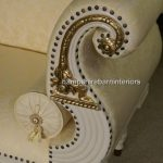 Regency Bergere Suite in Antique White with Cream Fabric5