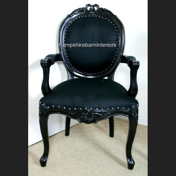 Ribbon Chair in Gloss Black and Black Upholstery1