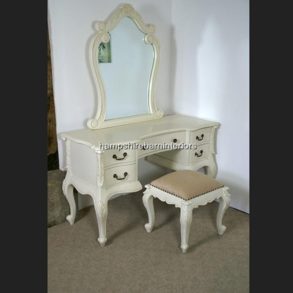 The Charles Dressing Table and Stool In Antique White1
