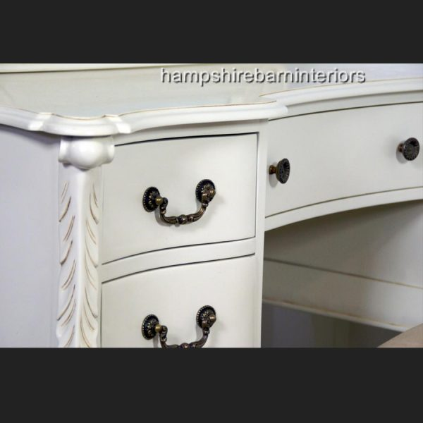 The Charles Dressing Table and Stool In Antique White4