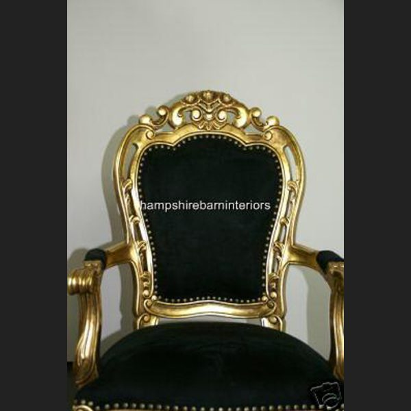 The Franciscan Occasional Chair in Gold and Black (dining or occasional)2