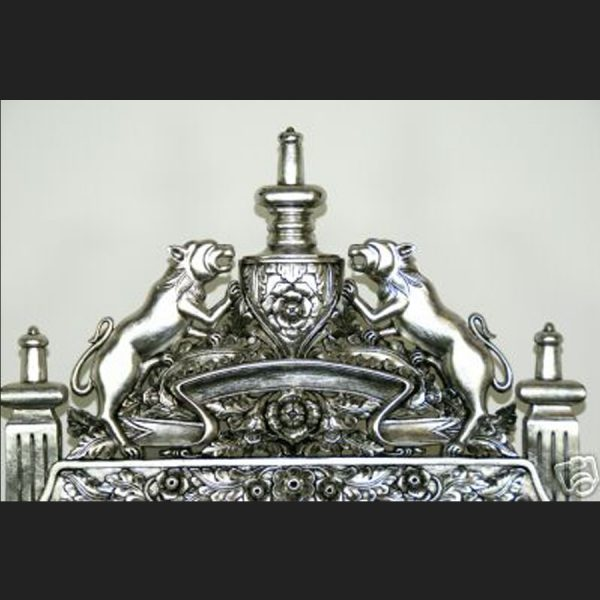 The Tudor Royal Throne Chair in Silver and Black5