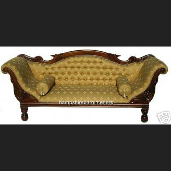 WARWICK REGENCY DOUBLE ENDED CHAISE in regal gold fabric