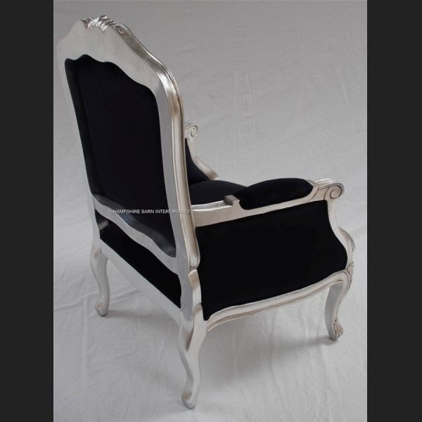 A Beautiful French Louis Style armchair ornately carved IN GOLD OR SILVER LEAF FRAME10