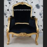 A Beautiful French Louis Style armchair ornately carved IN GOLD OR SILVER LEAF FRAME1