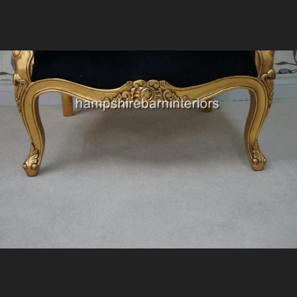 A Beautiful French Louis Style armchair ornately carved IN GOLD OR SILVER LEAF FRAME7