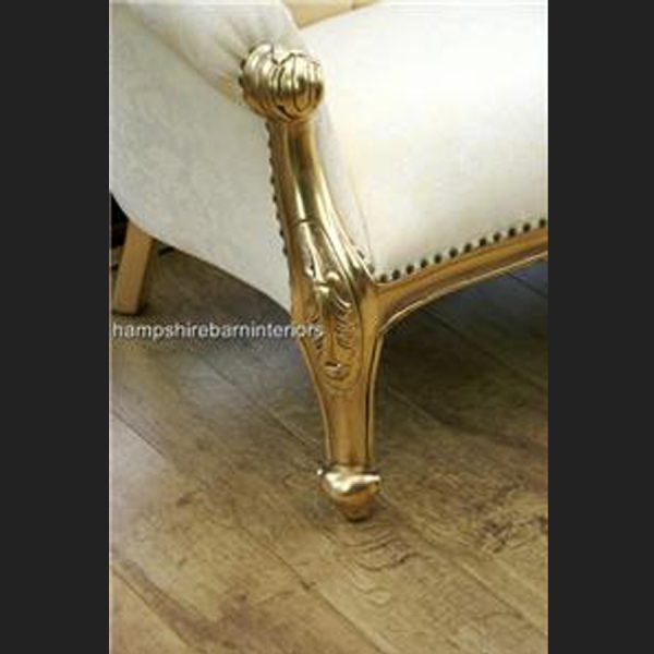 The Parisian Wedding Set in gold and cream (sofa and two chairs)3
