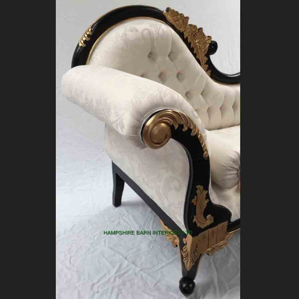 1-beautiful-chaise-black-gold-frame-with-ivory-cream-fabric-medium-size7