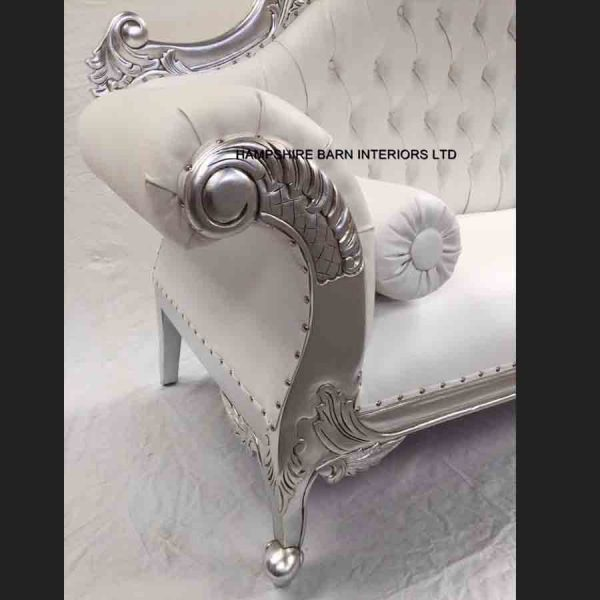 a-1-charles-louis-cuddler-love-seat-chaise-sofa-in-silver-leaf-frame-with-white-faux-leather2