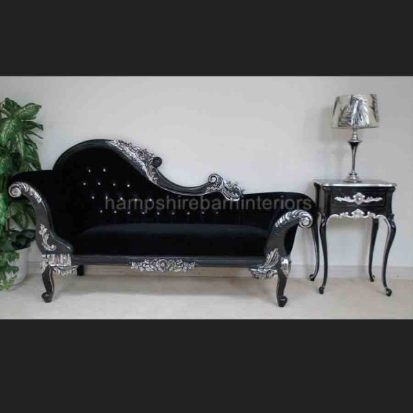 a-black-diamond-silvered-red-hampshire-medium-chaise-with-crystal-buttons-and-black-velvet