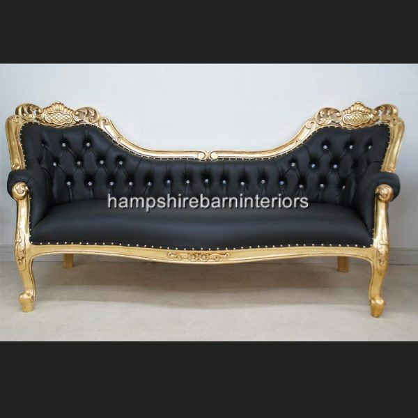 a-berkeley-club-salon-3-piece-suite-in-gold-leaf-black-faux-leather-with-diamond-crystal-buttons