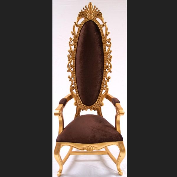 a-tall-elegant-milan-throne-hall-chair-feature-gold-leaf-chocolate-brown-velvet-fabric-ornate