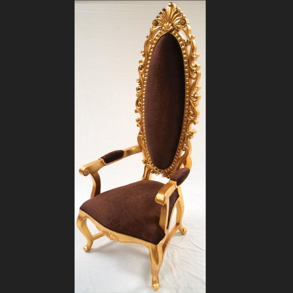 a-tall-elegant-milan-throne-hall-chair-feature-gold-leaf-chocolate-brown-velvet-fabric-ornate3