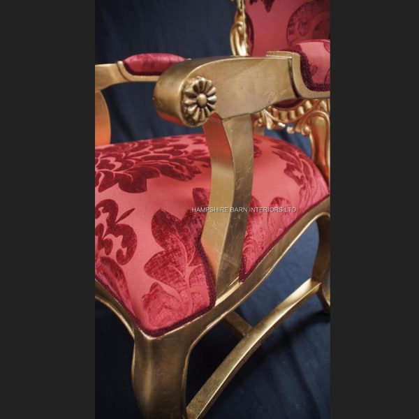 a-tall-elegant-milan-throne-hall-chair-feature-gold-leaf-coral-red-fabric-ornate4
