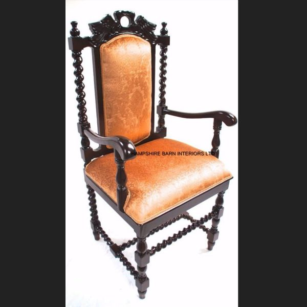 antique-replica-carver-dining-hall-chair-mahogany-gold-fabric-hand-carved-throne2