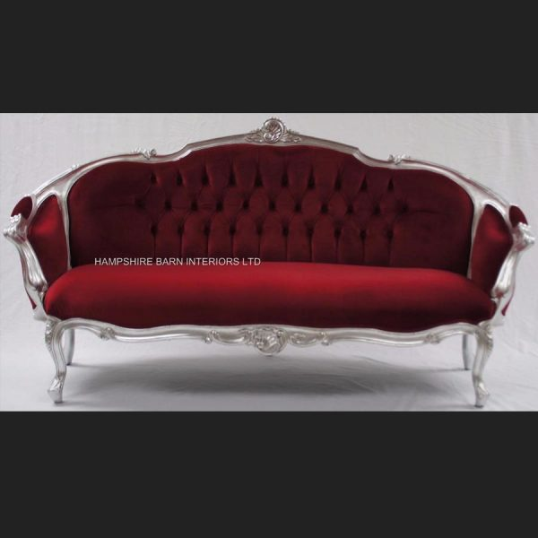 an-ascot-three-piece-salon-set-sofa-plus-two-armchairs-shown-in-silver-leaf-with-burgundy-dark-red-velvet0
