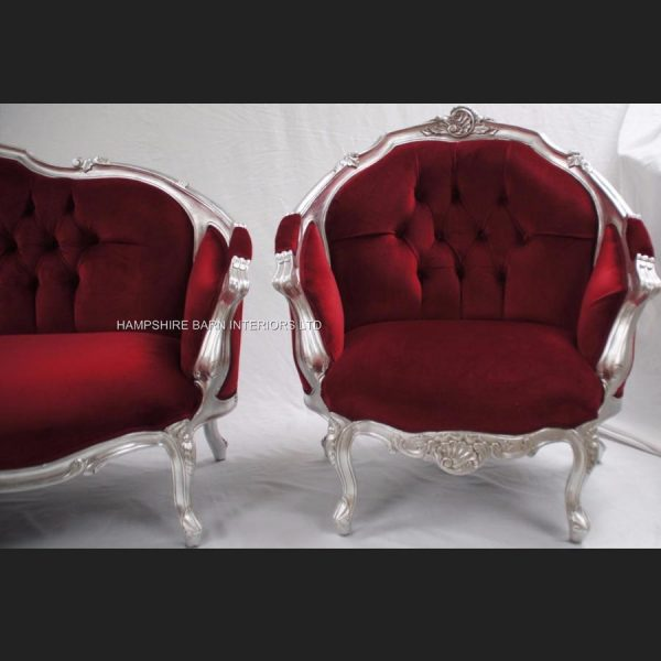 an-ascot-three-piece-salon-set-sofa-plus-two-armchairs-shown-in-silver-leaf-with-burgundy-dark-red-velvet3
