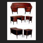 Ebonised and Mahogany Regency Desk