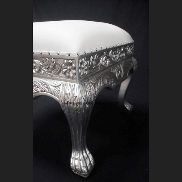 a-a-silver-leaf-heavily-carved-wedding-or-home-stool-ottoman-seat-shown-in-white-faux-leather3
