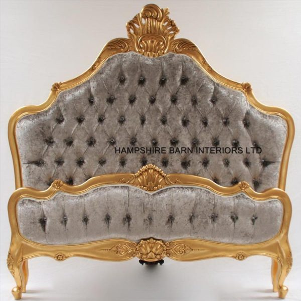 a-cannes-french-style-ornate-bed-frame-in-gold-leaf-with-silver-mercury-crushed-velvet-and-crystal-buttons