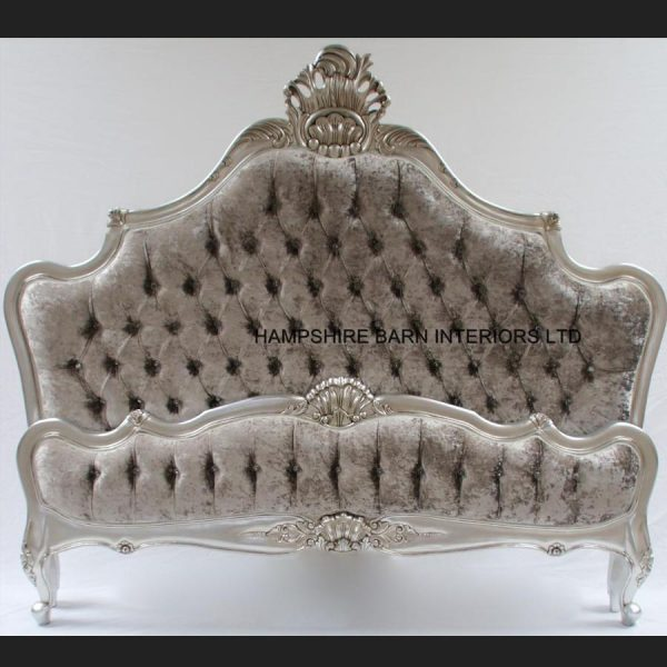 a-cannes-french-style-ornate-bed-frame-in-silver-leaf-with-silver-mercury-crushed-velvet-and-crystal-buttons